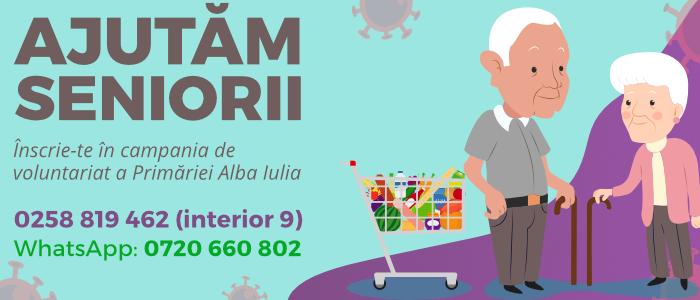 VOLUNTARIAT pentru SENIORI – Telefoane și listă cumpărături