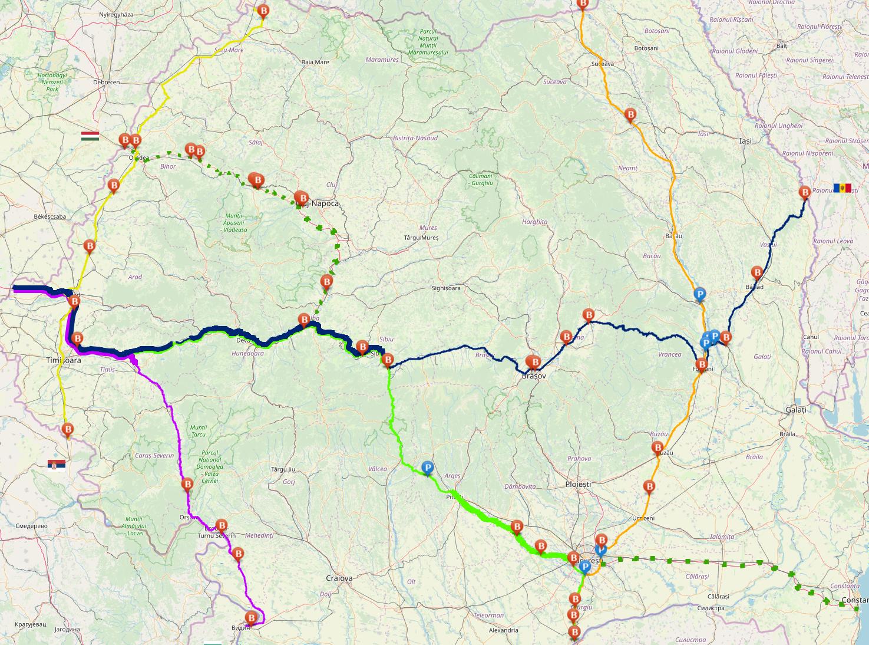 Harta interactivă a traseelor de tranzit de pe teritoriul României