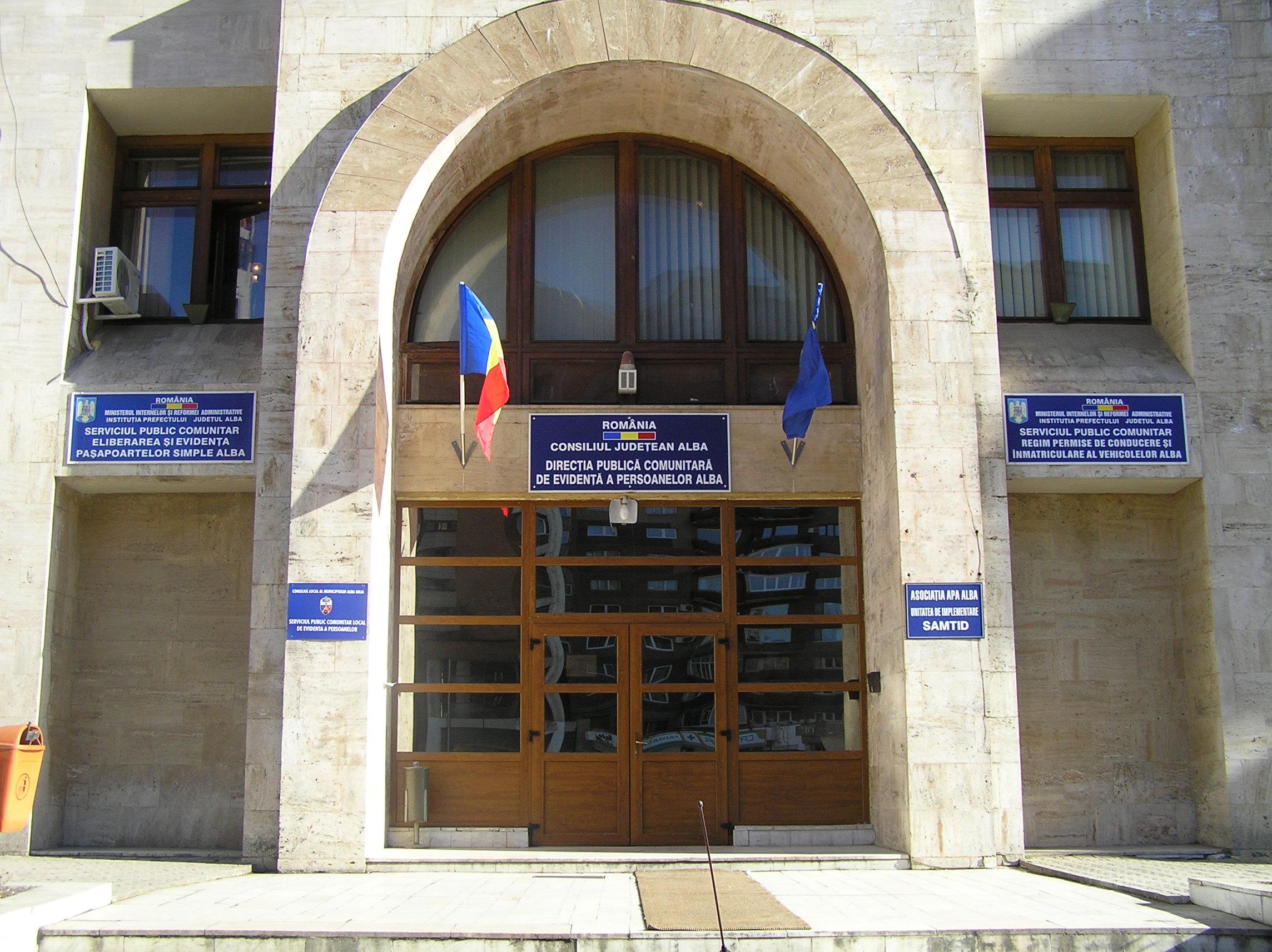 Măsuri noi la Serviciul Public Comunitar Local de Evidență a Persoanelor Alba Iulia